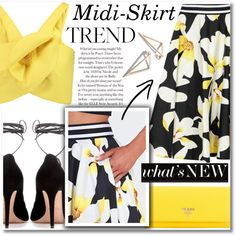 How To Wear Midi-Skirt Trend Outfit Idea 2017 - Fashion Trends Ready To Wear For Plus Size, Curvy Women Over 20, 30, 40, 50