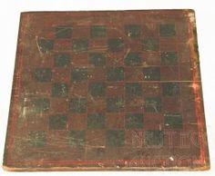 19th C. Primitive Gameboard