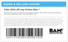 Free Printable Coupons: Books A Million Coupons