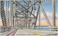 [The old] Sunshine Skyway Bridge, St. Petersburg/Sarasota, Florida