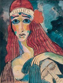 Marianne von Werefkin (1860-1938) was een Russisch expressionistische schilder. Vanaf 1907 ontstonden haar eerste expressionistische werken, waarbij zij de stijl van Paul Gauguin en Louis Anquetin volgde, maar haar onderwerpen ontleende zij vaak aan Edvard Munch. Werefkin zou tot haar dood stateloos blijven. Gedurende haar latere levensjaren behoedden vrienden haar voor grotere nood. Zij werd op de Russische begraafplaats van Ascona begraven.