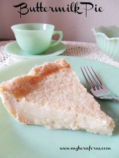 A great Southern traditional pie that you just must try!   http://www.myturnforus.com/2015/06/buttermilk-pie.html