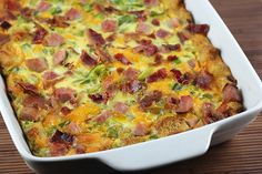 8 Easy and Delicious Breakfast Casserole Recipes | Shown here: Ham, Cheese, and Spinach breakfast casserole