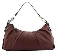 Foley + Corinna & Equestrian Leather Hobo Plum Black Handbag Saddle New! Shoulder Bag $199.00