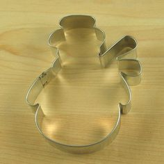 """Snowman Cookie Cutter from Karen's Cookies -Snowman Cookie Cutter measures 3 1/2"""" wide by 4 1/2"""" high.  Tin cutter is handmade in the USA.  $2.19"""
