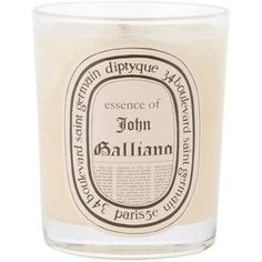 Diptyque John Galliano Candle ($54) ❤ liked on Polyvore featuring home, home decor, candles & candleholders, fillers, candles, other, beauty, scented candles, diptyque candles and fragrance candles