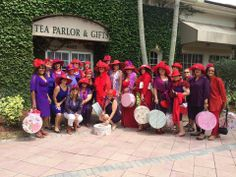 Red Hat Salseras of Florida enjoy an afternoon tea- Alice Figueroa