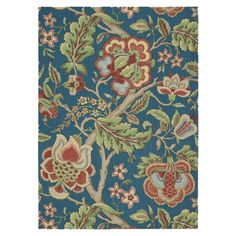 Rug with a multicolor floral motif.  Product: RugConstruction Material: PolyesterColor: Sapphire...