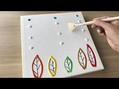 Daily challenge / Easy Art / Maple Birch Forest in Autumn Painting Canvas Painting Tutorials, Acrylic Painting Lessons, Acrylic Art, Acrylic Painting Canvas, Diy Painting, Forest Painting, Autumn Painting, Simple Art, Easy Art