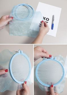 DIY small-scale silkscreening - how-to by Something Turquoise