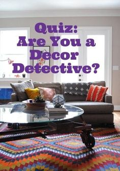 Turkish kilim rug Quiz: Are You a Decor Detective? — Test Your Skill: Match Rooms with Another Room in the Same Home