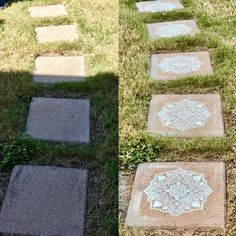 Backyard stepping stones
