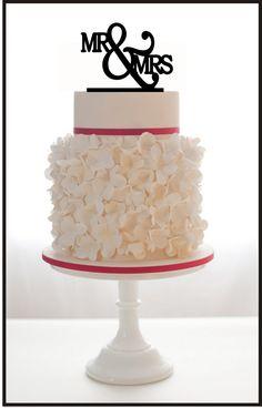 Wedding Cake Topper Mr & Mrs by Mclaserpro on Etsy, $15.00