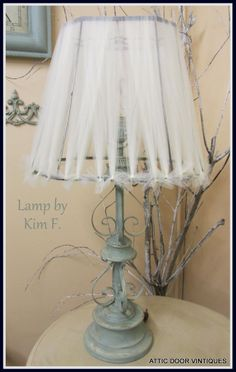Clock and Lamp were painted by Kim F. with Duck Egg Blue in Chalk Paint® by Annie Sloan.