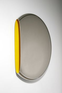 Available for sale from David Gill Gallery, Fredrikson Stallard, Mirror 'Pantheon' Yellow Mirror polished nickel plated aluminium, pigment paint, Eco Design, Industrial Chic Style, Country House Design, Inspiration Wall, Round Mirrors, Wall Sculptures, Polished Nickel, Timeless Design, Decoration