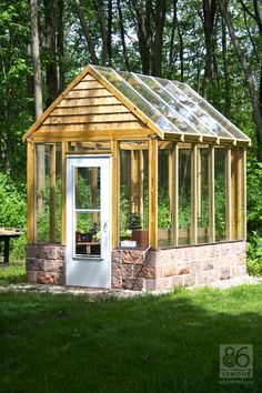 Custom Greenhouse - built by my incredible friends in Michigan... think they will come build one at our lake cottage?!
