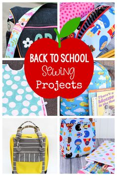 25 Back to School Sewing Projects-Fun things like backpacks and lunch boxes, pencil bags and art smocks, try some of these fun patterns today! #sew #sewing #patterns #sewingpatterns #backtoschool