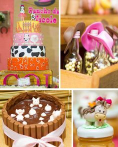 Cowgirl Themed Birthday Party with Tons of Fabulous Ideas via Kara's Party Ideas | KarasPartyIdeas.com--- OH the piggy cake thing!! cute!