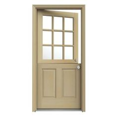 JELD-WEN 36 in. x 80 in. 9 Lite Unfinished Dutch Hemlock Wood Prehung Front Door with Brickmould-O10897 - The Home Depot