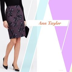 ANN TAYLOR FLORAL PENCIL SKIRT ~ NWT ANN TAYLOR FLORAL PENCIL SKIRT ~ A stunning polished pencil silhouette to showcase this stunning print, flaunting alluring florals in a swoon-worthy twilight palette ~ Hidden back zipper ~ Aubergine Floral ~ 98% Cotton/2% Lycra ~ Length 22  #2200  Trades or Holds ✅ Use offer option ❤️Bundles Ann Taylor Skirts Pencil