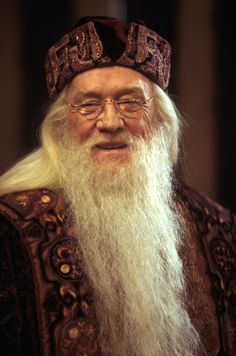 Dumbledore smiling from the Philosopher's Stone