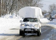 Snowbound social media users in upstate New York have been documenting the snow removal efforts.