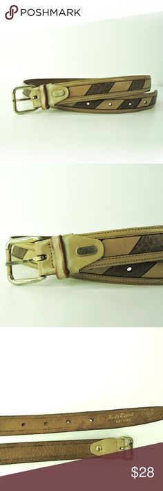 Paolo da Ponte Made Italy leather belt size 34 Paolo da Ponte men's belt. All leather tabs, two tone textured with gold tone buckle.       Size - 34      Condition - Good pre-owned condition     Made in Italy Paolo da Ponte Accessories Belts