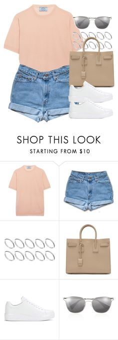 """""""Sin título #12827"""" by vany-alvarado ❤ liked on Polyvore featuring Prada, ASOS and Yves Saint Laurent"""