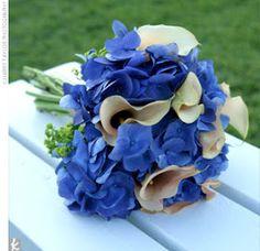Idéia para buque de noiva azul e branco...