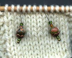 Knitting Stitch Markers Unakite SemiPrecious Stones by yarnyoda, $18.00
