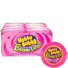 Hubba Bubba Sour Original Bubble Tape is a 6 foot length of candy gum packed in a pocket-sized pink dispenser. Box contains 12 dispensers of gum. Bubble Gum Flavor, All Candy, Toy Cars For Kids, Sugar Free Gum, Pink Bubbles, Kids Party Supplies, Party Stores, Tape, The Originals