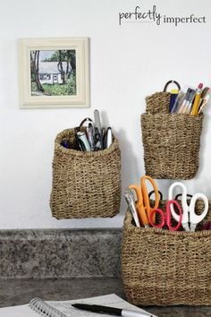 Radient Muliti Colors Hand-woven Basket Wicker Rattan Foldable Dirty Clothes Storage Basket Basket Hanging Potted Flower Pots Home Decor Home Decor