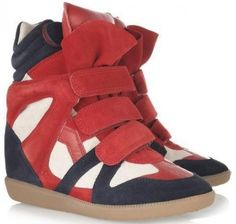 Isabel Marant Sneaker Bekket High-top Suede Rouge Navy Beige  €153.90