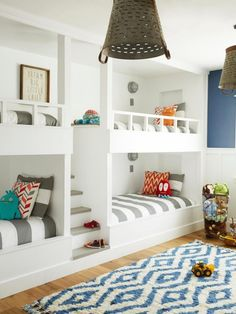House of Turquoise: Rafterhouse - bunk room Bunk Beds Built In, Home, Bedroom Loft, Interior, Bedroom Design, Loft Spaces, Ranch House, Bed Design, Built In Bunks