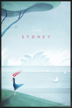 Sydney as Poster in Standard Frame by Henry Rivers | JUNIQE UK