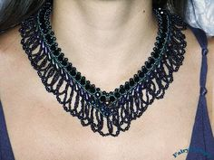 Necklace Artemis, handmade seed beads jewelry