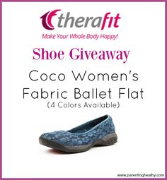 Therafit Coco Women's Ballet Flat shoe giveaway