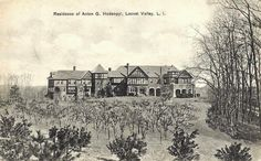 NY, Long Island, 'Hill House' - the Anton Gysberti Hodenpyl estate. Built c. 1900 in Mill Neck with landscaping by Ossian C. Simmonds.  Hodenpyl was a partner in a brokerage firm. He died in 1933, his wife in 1935. House was sold in 1938 and was demolished in 1940.