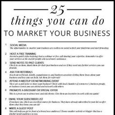 25 Ways to Market Your Business