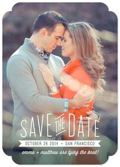 'Perfect Type of Love' photo save the date card by Hooray Creative for minted.com