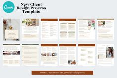 New Client Design Process Template ~ Templates ~ Creative Market Design Package, Working On It, Call To Action, Cover Pages, Design Process, First Time, Proposal, Lettering, Templates