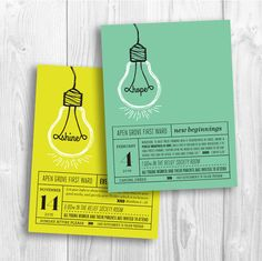 LDS New Beginnings invitation  brightness of hope by PicadillyLime