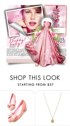 """""""Pretty in Pink"""" by elizamonel ❤ liked on Polyvore featuring De Beers, Chloé, Bianca Pratt, classy and Elegant"""