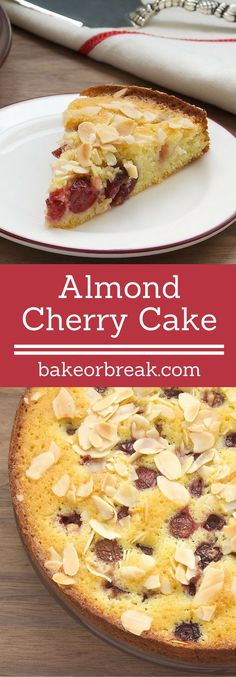 Almond Cherry Cake is a simple, sweet cake featuring one of the very best flavor combinations - cherries and almonds! - Bake or Break ~ http://www.bakeorbreak.com