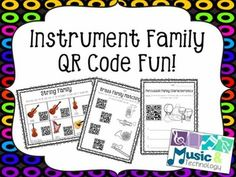 NOTE: The QR codes in this product were recently updated on 3/13/16. If you purchased this file before this date you need to re-download the QR codes. The previous QR codes will no longer work.This set of worksheets includes fun activities to help review the different instrument families using QR codes.