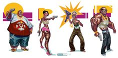 Character Designs by juarezricci.deviantart.com on @DeviantArt