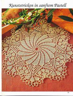 Kira knitting: Scheme knitted tablecloths 19