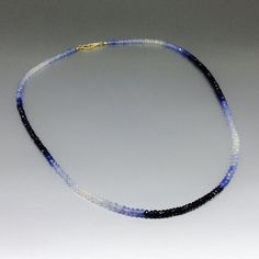 Hey, I found this really awesome Etsy listing at https://www.etsy.com/listing/478089201/ombre-necklace-of-shaded-blue-sapphire