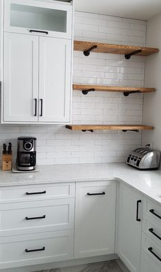 Shelves in kitchen rustic industrial wood pipe shelf industrial pipe shelving pipe shelves pipe shelving fl floating shelves kitchen ideas Kitchen Redo, Rustic Kitchen, New Kitchen, Kitchen Black, Kitchen Corner, Open Cabinet Kitchen, Kitchen Layout, Hidden Kitchen, Kitchen Cabinet Handles