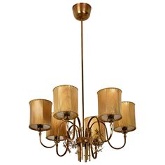 Paavo Tynell Chandelier Model No. 9013 for Taito Oy | See more antique and modern Chandeliers and Pendants at https://www.1stdibs.com/furniture/lighting/chandeliers-pendant-lights